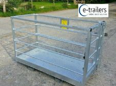 6FT 1.8m NON GALVANIZED Safety Access Work Platform Cage Box for Telehandler
